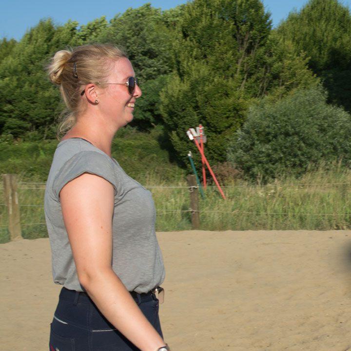 Ellen geeft paardrijles